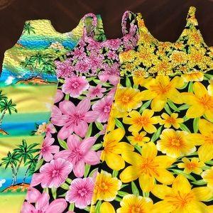 Pretty Girls 3 Dress Bundle Tropical 🐠 🏝 Print